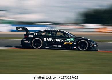 Moscow, Russia, Moscow Raceway - AUG 8, 2017: DTM 2017 Moscow stage BMW M4 DTM Bruno Spengler TEAM RBM the the track