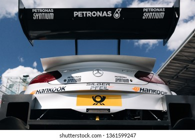 Moscow, Russia, Moscow Raceway - AUG 8, 2017: DTM 2017 Moscow stage Mercedes Benz AMG C63 DTM at the starting grid