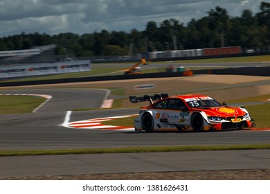 Moscow, Russia, Moscow Raceway - AUG 8, 2017: DTM 2017 Moscow stage Augusto Farfus drive BMW M4 DTM at the raceway