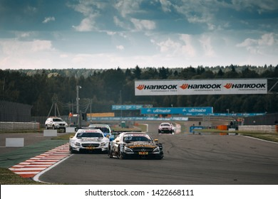 Moscow, Russia, Moscow Raceway - AUG 8, 2017: DTM 2017 Moscow stage Mercedes Benz AMG DTM C63