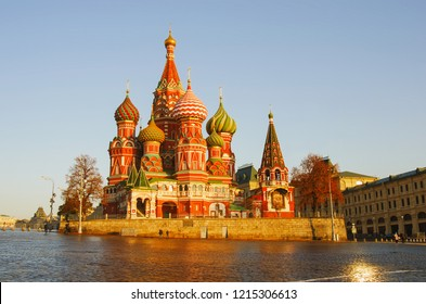 Moscow, Russia, Red square,view of St. Basil's Cathedral