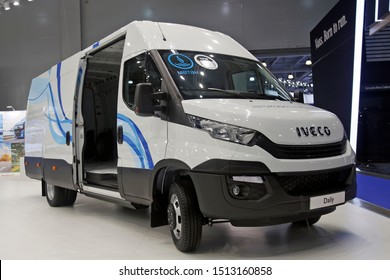 Moscow, Russia - Sept 2, 2019: Iveco Daily NP at Comtrans 2019
