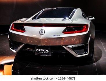 MOSCOW, RUSSIA - SEPT 4, 2012: Acura NSX is a separate division of Japanese automaker Honda and is most expensive production supercar produced in United States