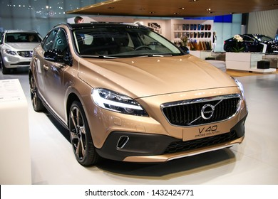 Moscow, Russia - September 1, 2016: Motor car Volvo V40 Cross Country presented at the annual Moscow International Motor Show MIMS-2016.