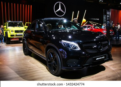Moscow, Russia - September 1, 2016: Motor car Mercedes-Benz C292 GLE-class AMG presented at the annual Moscow International Motor Show MIMS-2016.