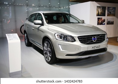 Moscow, Russia - September 1, 2016: Motor car Volvo XC60 presented at the annual Moscow International Motor Show MIMS-2016.