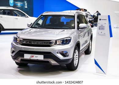 Moscow, Russia - September 1, 2016: Motor car Changan CS75 presented at the annual Moscow International Motor Show MIMS-2016.