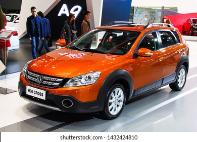 Moscow, Russia - September 1, 2016: Motor car DongFeng H30 Cross presented at the annual Moscow International Motor Show MIMS-2016.