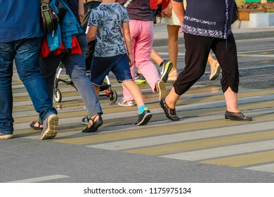 Moscow, Russia - September, 10, 2018: pedestrians on the Moscow street