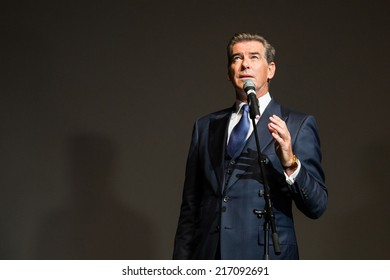 """MOSCOW, RUSSIA, September, 10: Actor Pierce Brosnan. Premiere of the movie """"THE NOVEMBER MAN"""", September, 10, 2014 at Barvikha Luxury Village in Moscow, Russia"""