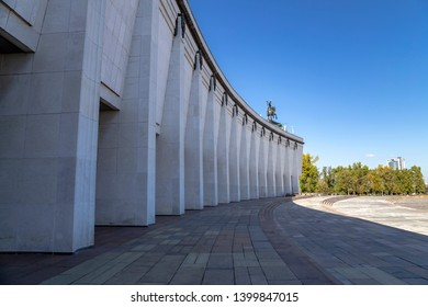 MOSCOW, RUSSIA – SEPTEMBER 16, 2014: War memorial in Victory Park on Poklonnaya Hill (Gora), Moscow, Russia.