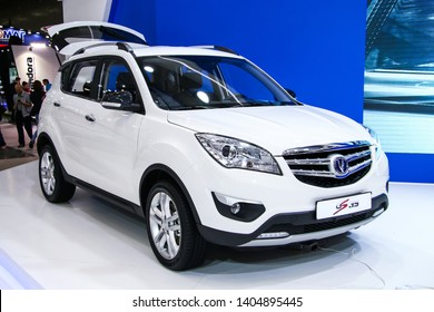 Moscow, Russia - September 2, 2016: Chinese motor car Changan CS35 presented at the annual Moscow International Motor Show MIMS-2016.