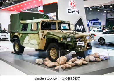 Moscow, Russia - September 2, 2016: Chinese off-road car DongFeng Warrior presented at the annual Moscow International Motor Show MIMS-2016.