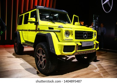 Moscow, Russia - September 2, 2016: Off-road car Mercedes-Benz W463 G500 4x4(2) presented at the annual Moscow International Motor Show MIMS-2016.