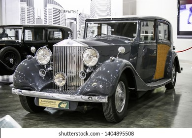 Moscow, Russia - September 2, 2016: Retro car 1937 Rolls-Royce Phantom III presented at the annual Moscow International Motor Show MIMS-2016.