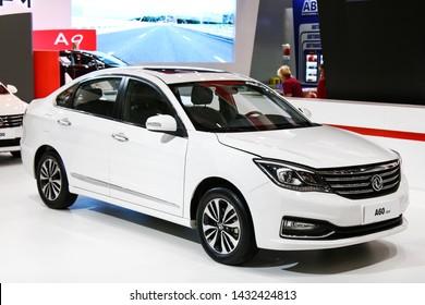 Moscow, Russia - September 2, 2016: Motor car DongFeng Fengshen A60 presented at the annual Moscow International Motor Show MIMS-2016.