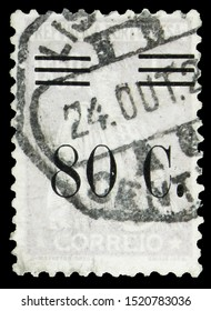 MOSCOW, RUSSIA - SEPTEMBER 22, 2019: Postage stamp printed in Portugal shows Ceres, serie, circa 1928