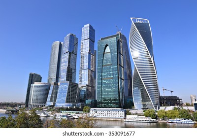 MOSCOW, RUSSIA - SEPTEMBER 26, 2015: Business center Moscow-City