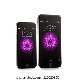 MOSCOW, RUSSIA - SEPTEMBER 29, 2014: New iPhone 6 and iPhone 6 Plus is a smartphone developed by Apple Inc. Apple releases the new iPhone 6 and iPhone 6 Plus