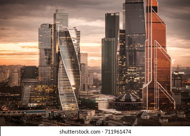 MOSCOW, RUSSIA - SEPTEMBER 7, 2017: Moscow City International Business Center