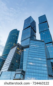 MOSCOW, RUSSIA - SEPTEMBER 9, 2017: Glass skyscraper of the Moscow City