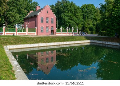 MOSCOW, RUSSIA - SEPTEMBER 9, 2018: View of Dutch house in Kuskovo park