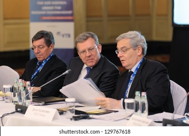 MOSCOW, RUSSIA-FEB 15: Alexei Kudrin - ex Minister of Finance of Russia at G20 Finance Ministers and Central Bank Governors Deputies Meeting on February, 15, 2013 in Ritz-Carlton Hotel, Moscow, Russia
