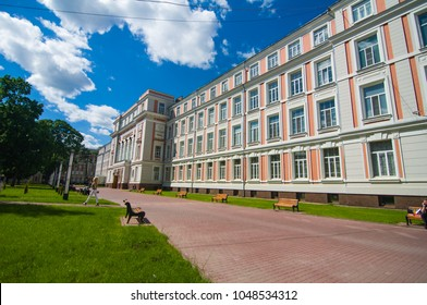 Moscow, Russia-June, 2017: Moscow University of transport engineers (MIIT) building in Moscow. Moscow.
