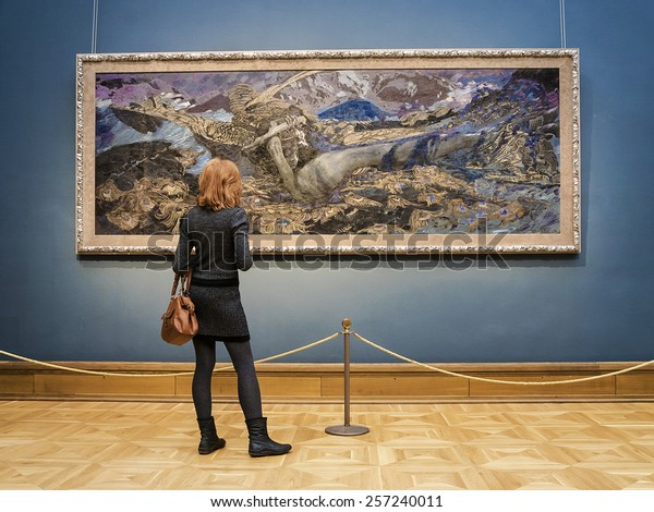 MOSCOW, RUSSIA-MARCH 1: The State Tretyakov Art Gallery in Moscow, March 1, 2015. The museum was founded in 1856 by merchant Pavel Tretyakov, the world's largest collection of Russian art.