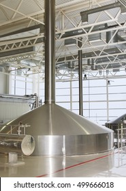 Moscow, Russian Federation - March 07, 2015: Brewing production - mash vats.
