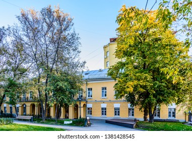 Moscow, Russia-October 11, 2018: the House-Museum of the great Russian writer Nikolai Gogol.  Nikitsky Boulevard, 7A.