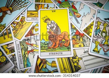 Moscow Russia September 7 2015 Tarot Cards Tarot Stock Photo