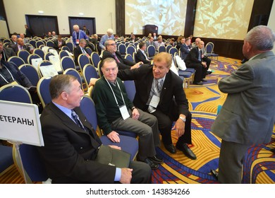 MOSCOW - SEP 1: Election of the President of the Russian Football Union in Renaissance Moscow Monarch Centre Hotel on September 1, 2012 in Moscow, Russia.