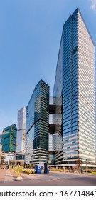 """Moscow. September 11, 2019. Business center Moscow-City. Office tower number 2 of the complex """"IQ-quarter"""""""