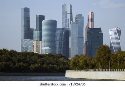 MOSCOW - SEPTEMBER 12, 2017: Moscow City business and apartments center, popular landmark and example of modern city architecture. Color photo.