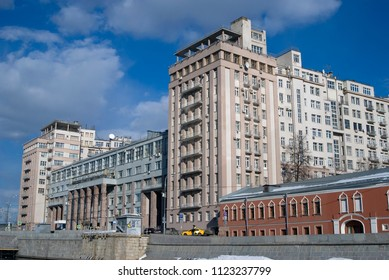 MOSCOW - SEPTEMBER 12, 2017:  View of Estrade Theater, popular landmark in Moscow city center.