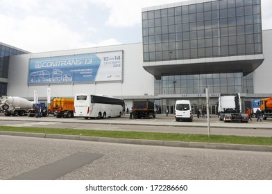 MOSCOW, SEPTEMBER 12: The building of the international exhibition  COMTRANS on September 12, 2013 in Moscow