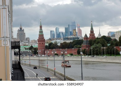 MOSCOW - SEPTEMBER 14, 2016: Moscow Kremlin. UNESCO World Heritage Site. Color photo.
