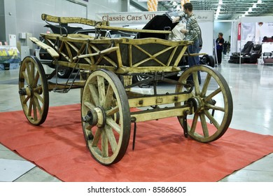 MOSCOW - SEPTEMBER 16: Vintage light carriage at the international exhibition of the technical antiques on September 16, 2011 in Moscow, Russia