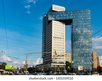 Moscow, September 2019. View at the office building at Enthusiastov  bwd. 2.