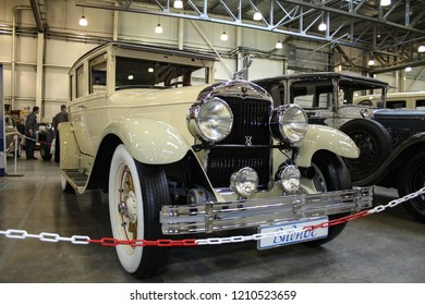 Moscow - September 29, 2012: Cadillac 314 V8 1926 at the international largest exhibition of vintage cars and technical Antiques. Public-event.
