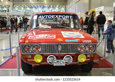 Moscow - September 29, 2012: Lada sport model 2106 USSR avtoexport at the international largest exhibition of vintage cars and technical Antiques. Public-event.
