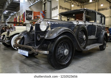 Moscow - September 29, 2012: Lincoln Gentlmen model K 1930 at the international largest exhibition of vintage cars and technical Antiques. Public-event.