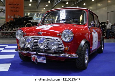 Moscow - September 29, 2012: Mini cooper sport at the international largest exhibition of vintage cars and technical Antiques. Public-event.