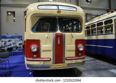 Moscow - September 29, 2012: Soviet bus ZIS-154 at the international largest exhibition of vintage cars and technical Antiques. Public-event.