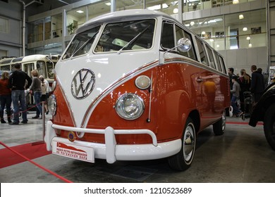 Moscow - September 29, 2012: Volkswagen Transporter T1 1950 at the international largest exhibition of vintage cars and technical Antiques. Public-event.