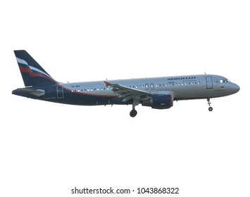 Moscow, Sheremetyevo International Airport, Russia - Mar 10, 2018: Airbus A320-200 VQ-BBC Aeroflot Russian Airlines takeoff at Sheremetyevo International Airport