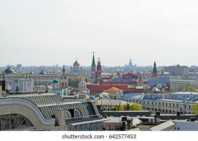 Moscow skyline on a sunny summer day