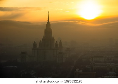 Moscow State University and sun