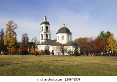 """Moscow. """"Tsaritsyno"""". In Tsaritsyno - operating temple in the name of the mother of God """"life-giving source. The Church, rebuilt from wooden to stone in the middle of the 18th century."""